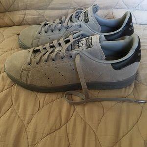 Adidas Stan Smith Gray Suede - Men's size 8